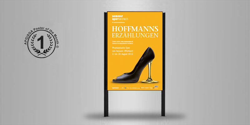 Key Visual 2012 | Plakat F4 | 1. Platz APG Plakatwettbewerb «Poster of the Month»